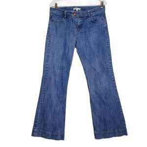 Cabi Flare Leg Jeans Style 178R Button Pockets 10